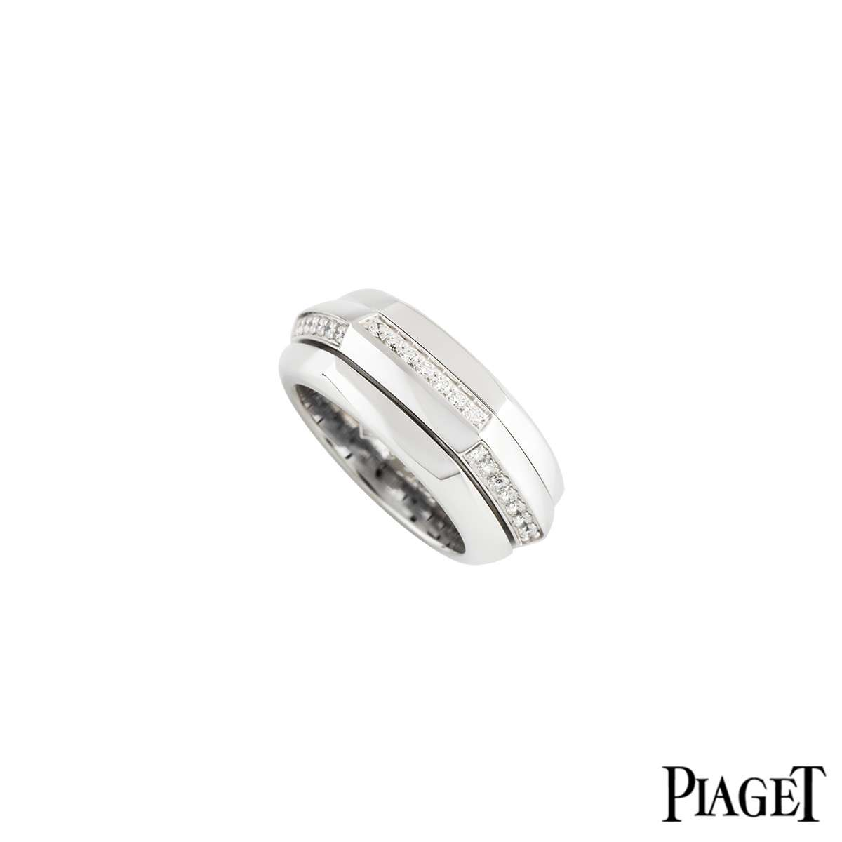 Piaget 18k White Gold Diamond Set Possession Ring?